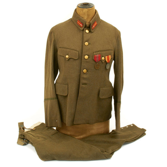 Original Japanese WWII Army Officer Uniform with First National Congress in Manchuria Medal