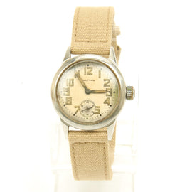 Original U.S. WWII Navy FSSC-88-W-800 Wrist Watch by Waltham dated 1942 - Fully Functional