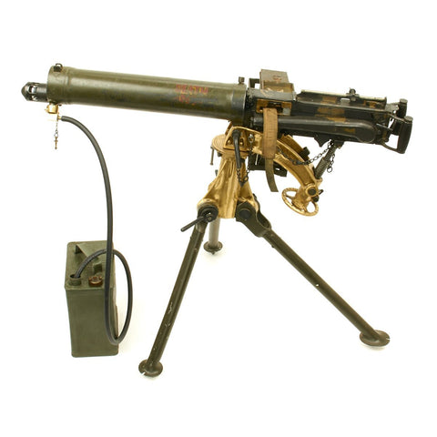 Original British WWII Vickers Personalized Display Machine Gun with Tripod with Accessories