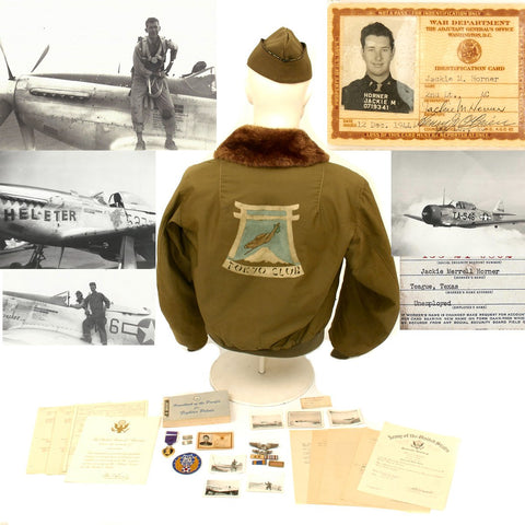 Original U.S. WWII Pacific Tokyo Club P-51 Mustang Fighter Pilot Named Grouping - 457th Fighter Squadron