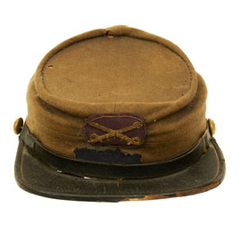 Original U.S. Civil War Union Cavalry Veteran Model 1875 GAR Chasseur Pattern Kepi