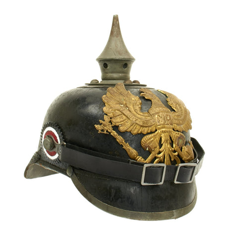 Original German WWI Prussian M1915 Pickelhaube Spiked Helmet - Maker Marked