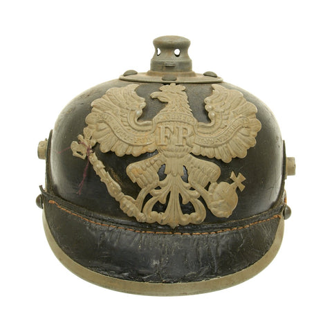 Original German WWI Prussian M1915 Pickelhaube Helmet - Dated 1902