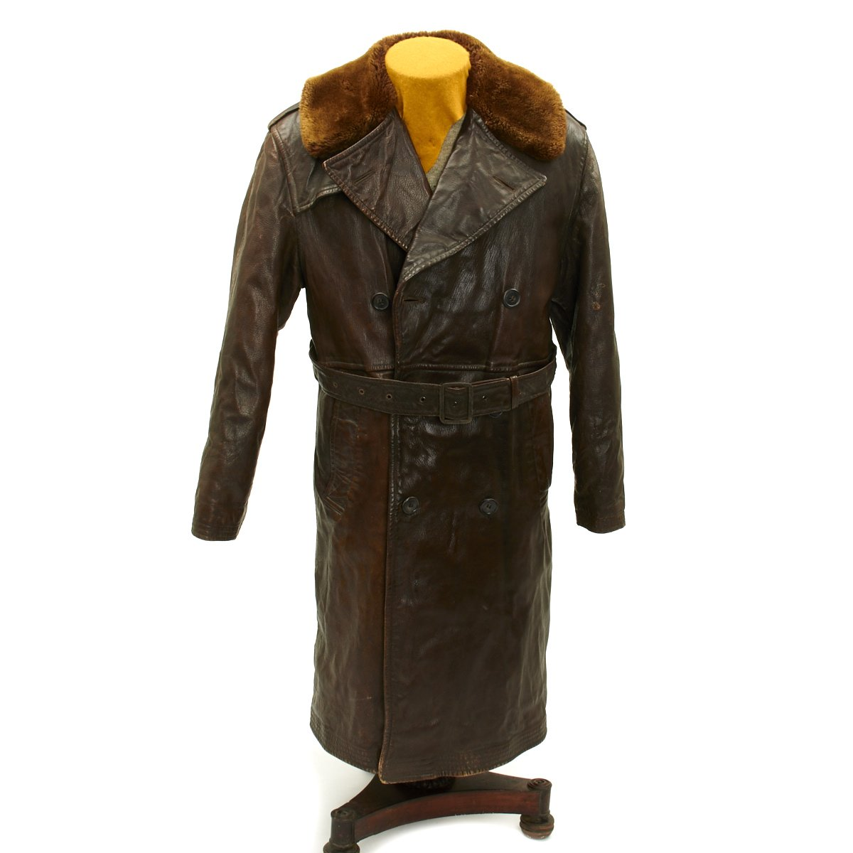 d3605b150 Original WWII U.S. Navy M-69F Leather Transport Pilot Aircraft Coat ...