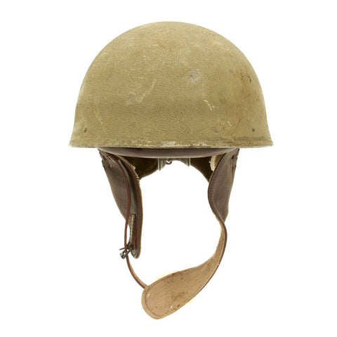 Original WWII British MkI Dispatch Rider Helmet Marked BMB 1942 - Size 7