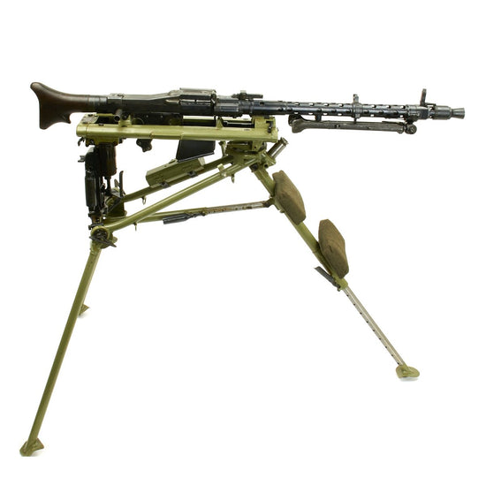 Original German WWII MG 34 Display Machine Gun with MG 42 Lafette Mount - marked dfb 42