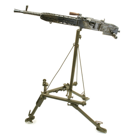 Original German WWII ZB 37(t) Display Machine Gun with Anti-Aircraft Tripod
