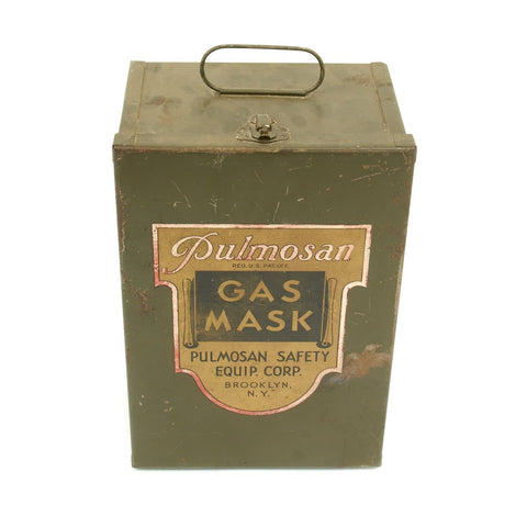 Original U.S. WWII Era Pulmosan Gas Mask Tin - Brooklyn NY