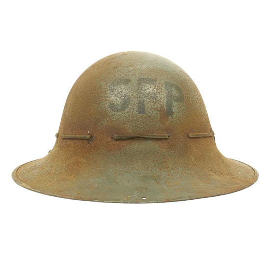 Original British WWII SFP Civil Defense Zuckerman Helmet - Dated February 1941