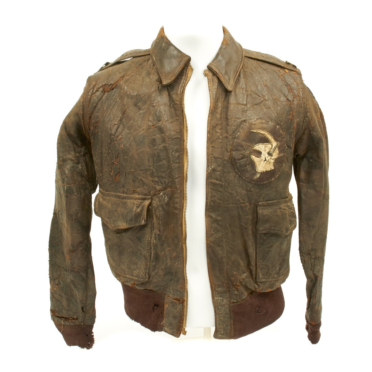 4188a06ad Original U.S. WWII Army Air Force Type A2 Leather Flight Jacket with ...