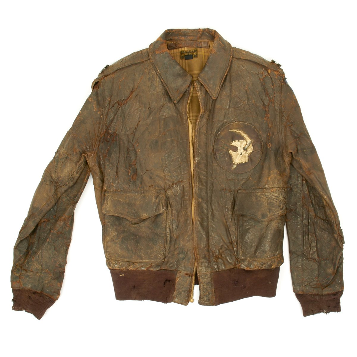 ba6d5c526 Original U.S. WWII Army Air Force Type A2 Leather Flight Jacket with ...