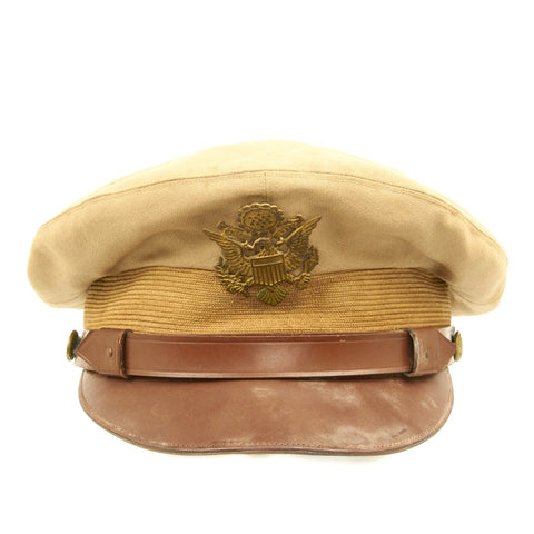Original U.S. WWII USAAF Officer Khaki Crush Cap By Lewis - Size 7 1/4