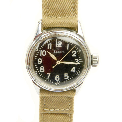 Original U.S. WWII 1943 Type A-11 USAAF Wrist Watch by Elgin - Fully Functional