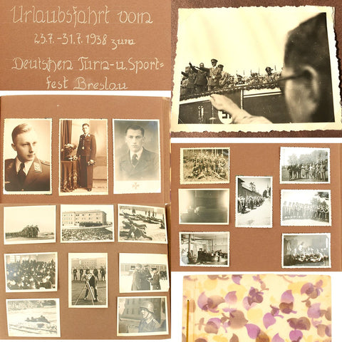 Original German WWII Klier Family Photo Album with Unknown Hitler Photo - 200+ Images
