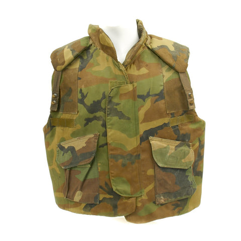 Original USGI Camouflage Body Armor Fragmentation Protective Flak Vest for Ground Troops