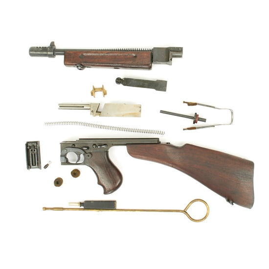 Original U.S. WWII Thompson M1928A1 SMG Collector Grade Complete Parts Set