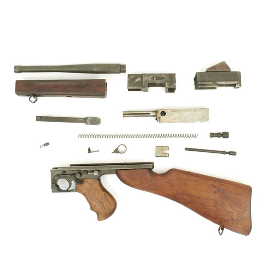Original U.S. WWII Thompson M1 SMG Parts Set with Original Barrel and Receiver Pieces