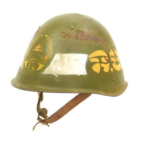 Original Soviet-Afghan War Russian SSh-60 Helmet Used by Afghan Police