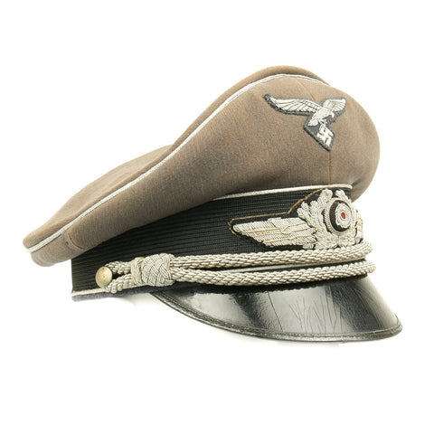 Original German WWII Luftwaffe Officer Visor Cap by Extraklasse