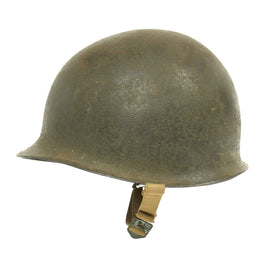 Original U.S. WWII 1945 M1 McCord Front Seam Helmet with Westinghouse Liner