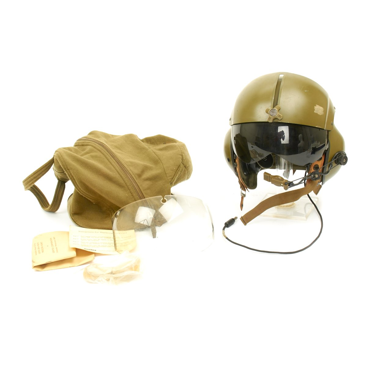 Prev · U.S. Vietnam War Helicopter Pilot Gentex SPH-4 Helmet with Felt Bag.  Tap to expand 59f925ed84ac7