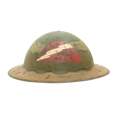 "Original U.S. WWI M1917 Refurbished Doughboy Helmet of the 78th ""Lightning"" Division"