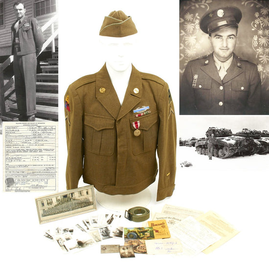 Original U.S. WWII 63rd Armored Infantry Battalion (AIB) Named Grouping Original Items