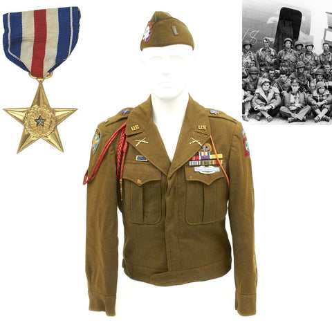 Original U.S. WWII Silver Star 504th Parachute Infantry Regiment Named Officer Grouping - Lieutenant Chester Anderson