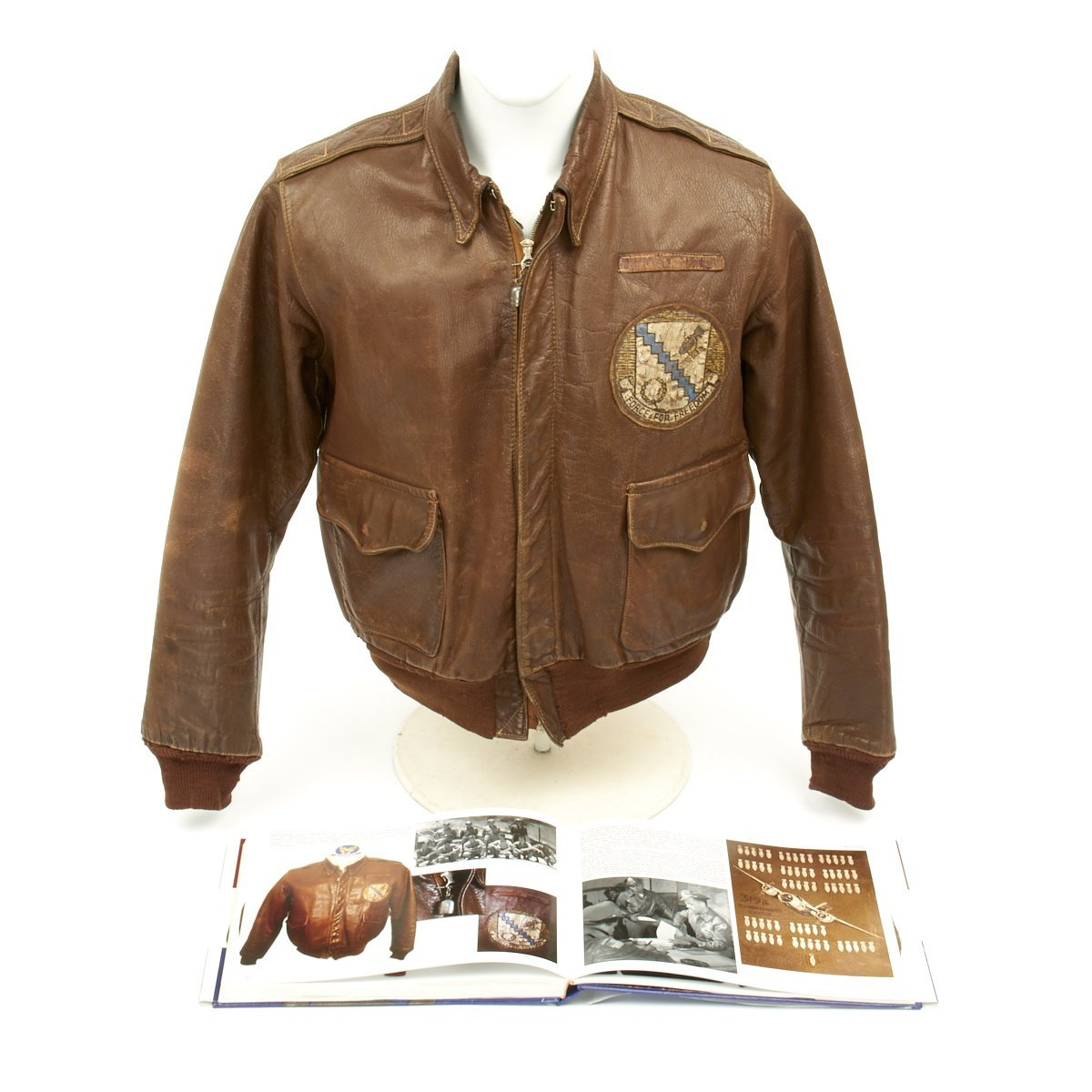 Original US WWII Named Navigator 98th Bomb Group A 2 Flight Jacket Featured In Silver