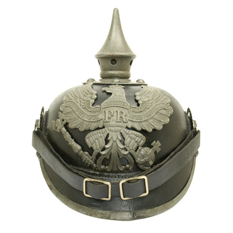 Original German WWI Prussian M1915 Pickelhaube Spiked Helmet - Maker Marked and Dated