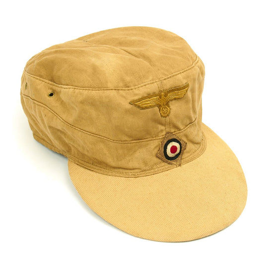Original German WWII M43 Afrika Korps Tropical Field Cap - French Manufacture