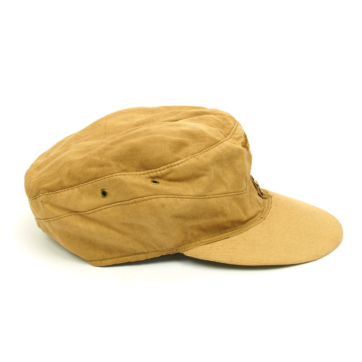 453fd663bf5f2 Original German WWII M43 Afrika Korps Tropical Field Cap - French  Manufacture