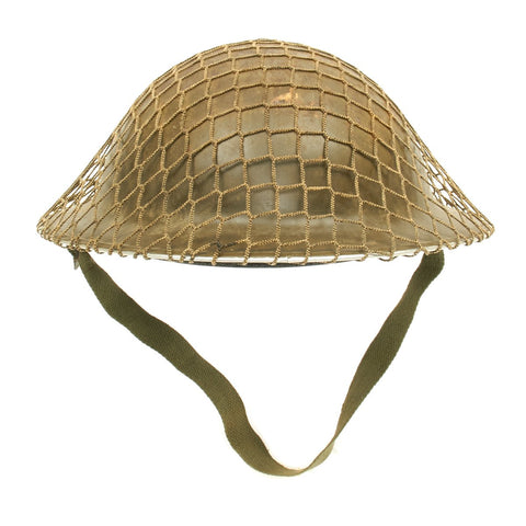 Original Canadian WWII Brodie MkII Steel Helmet with Net by Canadian Lamp Co. with size 7 3/4 liner - Dated 1942