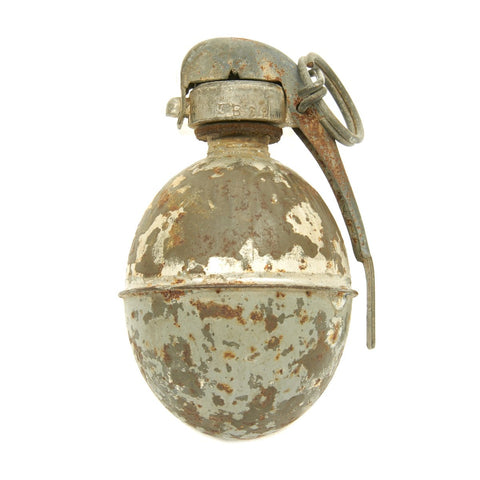 Original French WWI Blue Egg Hand Grenade 1915 - 1917