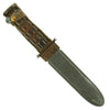 show larger image of product view 16 : Original U.S. WWII Navy Mark 2 KA-BAR Fighting Knife by CAMILLUS with Personalized MK2 Scabbard Original Items