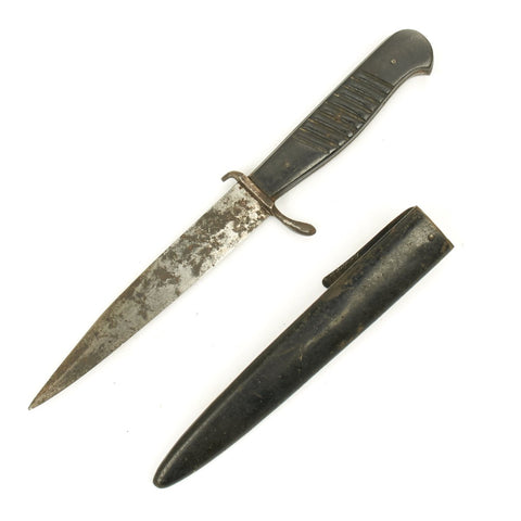 Original German WWI Trench Knife with WWII Boot Scabbard