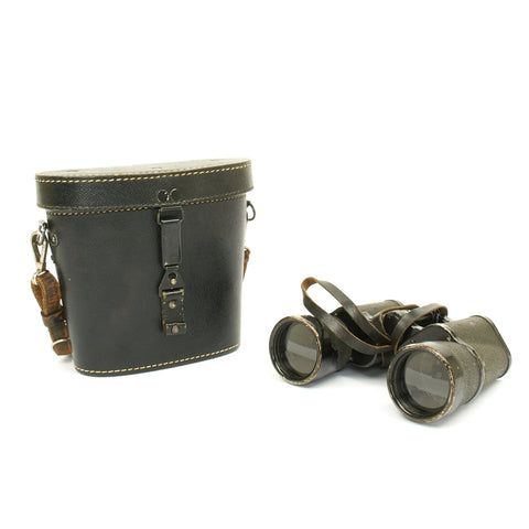 Original German WWII Carl Zeiss (blc) 10x50 Dienstglas Binoculars with Leather Case dated 1939