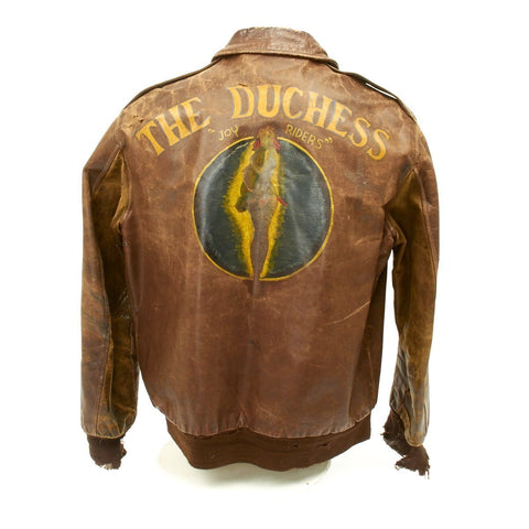 Original U.S. WWII B-24 The Duchess Named A-2 Flight Jacket- Over 40 Missions