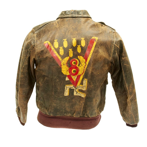 Original U.S. WWII Barking Devils 549th Bomb Squadron A-2 Flight Jacket