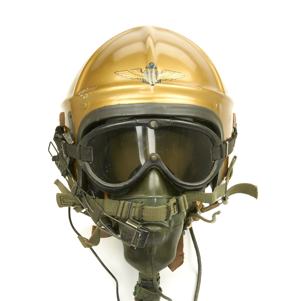 Original U S  Navy 1950s Gentex H-4 Flight Helmet with Cloth