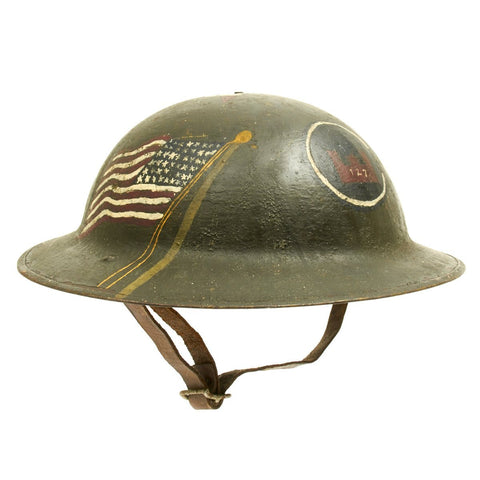 Original U.S. WWI 5th Engineer Battalion M1917 Doughboy Helmet