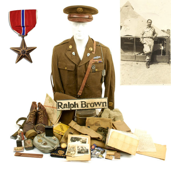 Original U.S. WWII 36th Infantry Division Bronze Star Named Grouping - 736th Ordnance Company
