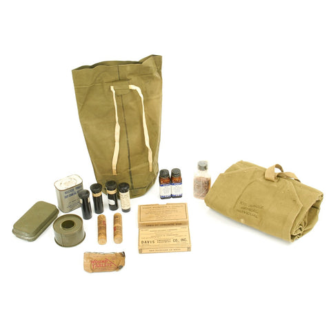 Original U.S. WWII M1 Jungle First Medical Aid Kit - Complete