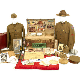 Original U.S. WWI Named Medical Department Trunk Grouping