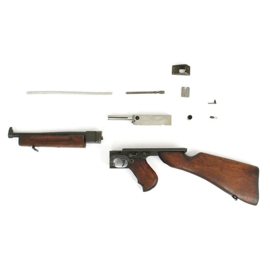 Original U.S. WWII Thompson M1 SMG Parts Set with Original Barrel and Receiver Nose - Serial 14587