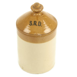 Original British WWI Military Issue S.R.D. Imperial Gallon Rum Jug by Doulton & Co. Ltd.