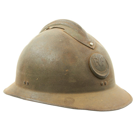 Original French WWII North African Zouave M26 Adrian Helmet Original Items