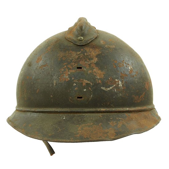 Original French WWI Model 1915 Adrian Helmet without Badge Original Items