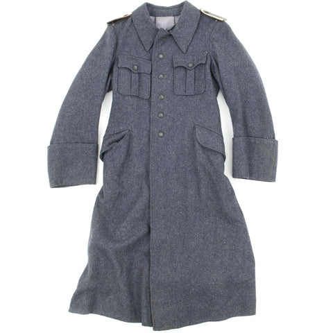 Original German WWII Luftwaffe Flak Wool Greatcoat Original Items