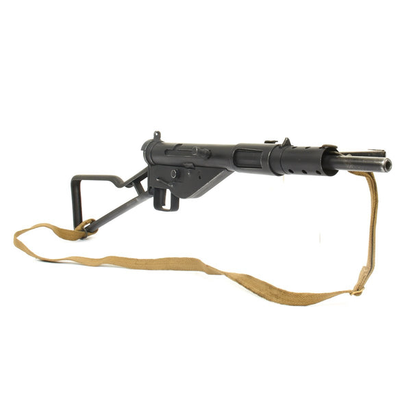 Original British WWII Sten MkII Display Submachine Gun with Commando Loop  Stock